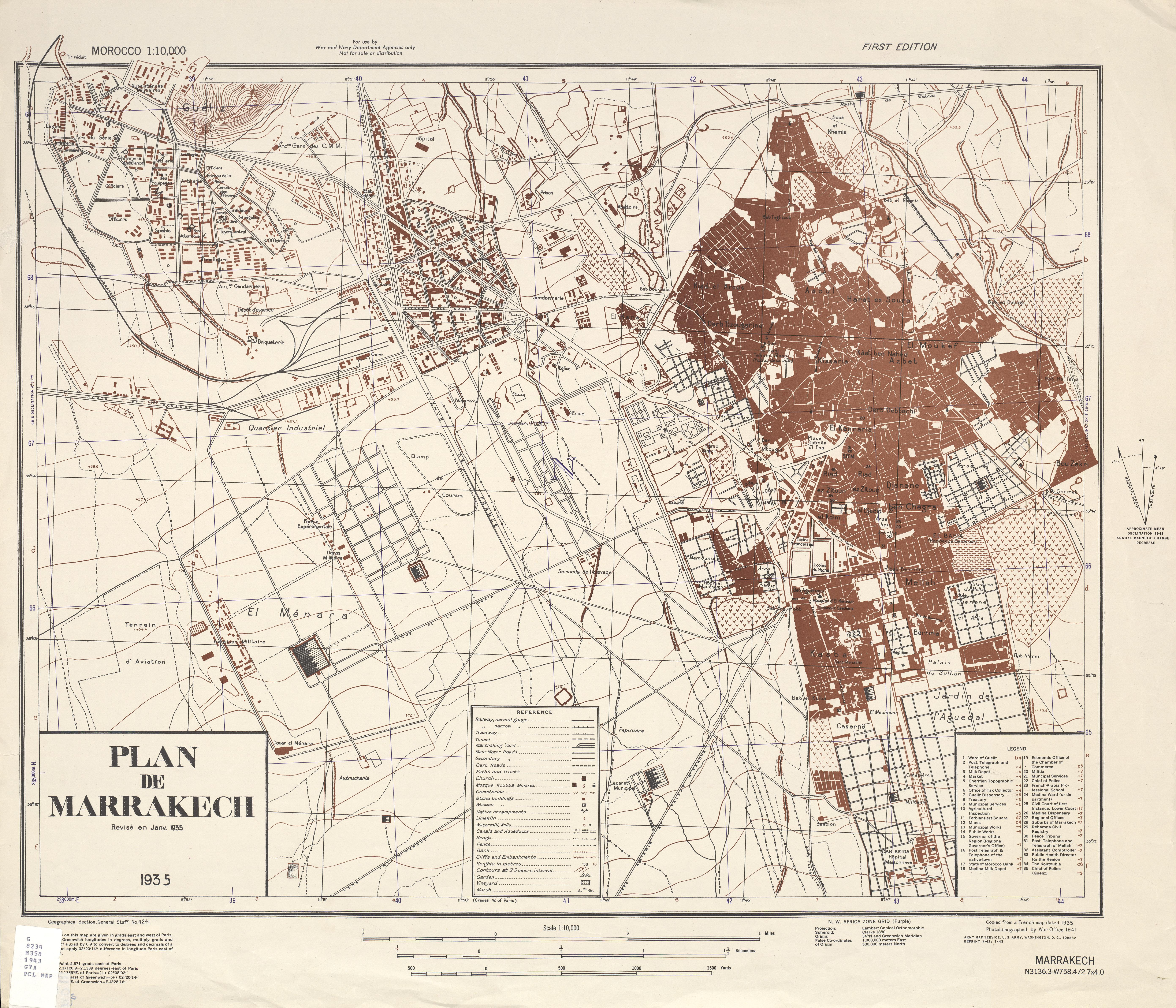 Map of Marrakech a house in marrakech